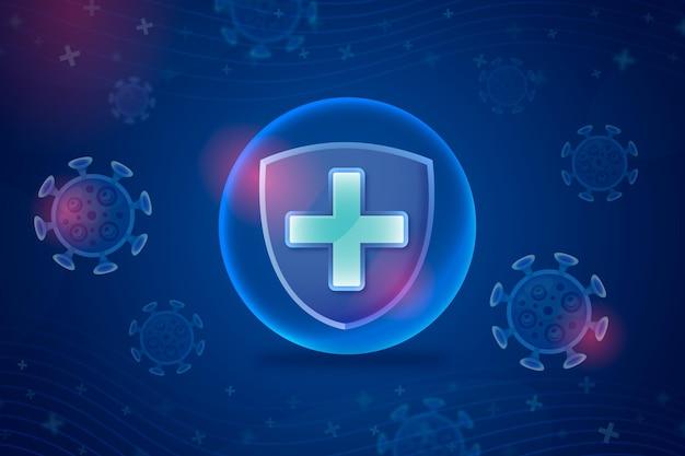 Tło tarczy ochronnej koronawirusa