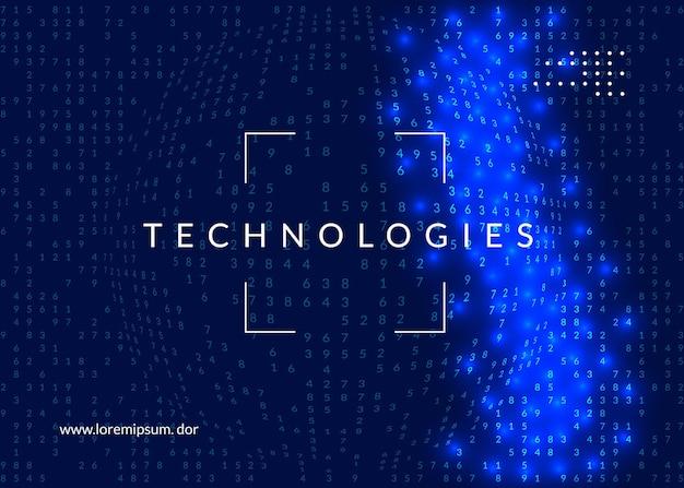 Tło techniczne sztucznej inteligencji. technologia cyfrowa, koncepcja głębokiego uczenia się i dużych zbiorów danych. abstrakcyjna wizualizacja dla szablonu serwera. geometryczne tło technologii sztucznej inteligencji.