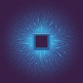 Tło technologia głębokiego uczenia maszynowego