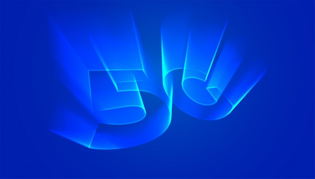 Tło technologii 5g z holograficznym blaskiem