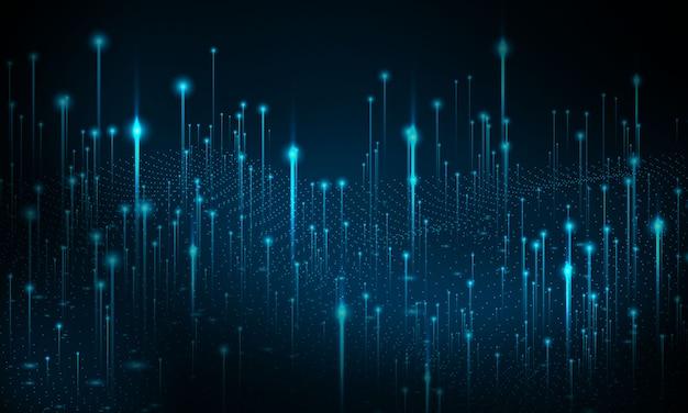 Tło technologii big data. sieć cząstek stałych bezpieczeństwo cybernetyczne