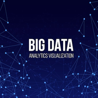 Tło technologii big data.