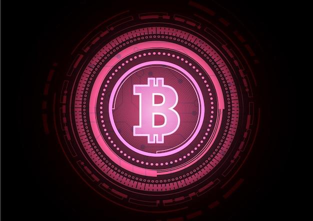 Tło technologii bitcoin circuit z cyfrowym systemem transmisji danych hitech
