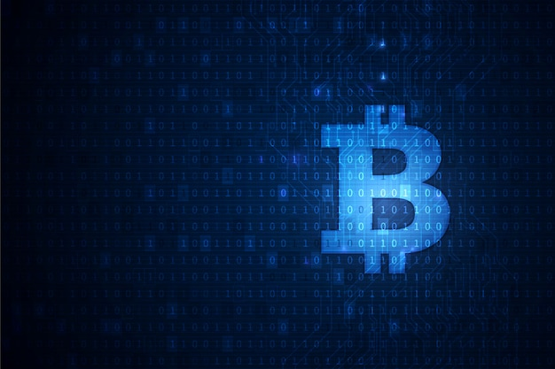 Tło technologii blockchain kryptowaluty bitcoin
