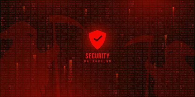 Tło technologii cyfrowej z kodem binarnym, tapety bezpieczeństwa cyberprzestrzeni