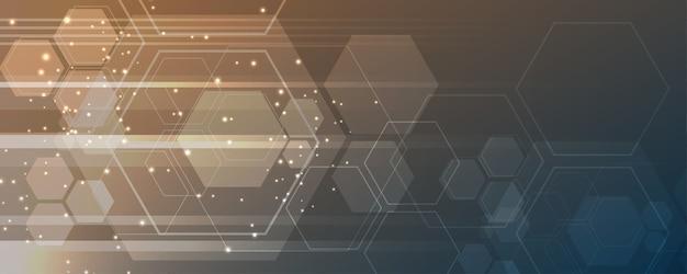 Tło technologii hi-tech koncepcja komunikacji innowacji abstrakcyjne tło