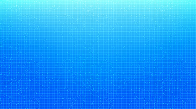 Tło technologii niebieski obwód mikroprocesorów