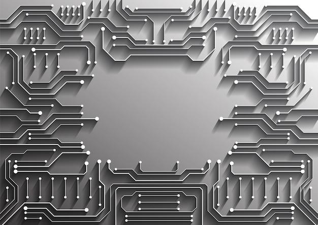 Tło technologii obwodów z zaawansowanym systemem cyfrowego połączenia danych i projektowaniem elektroniki komputerowej