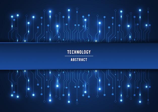 Tło technologii obwodu drukowanego z hi-tech cyfrowym połączeniem danych i komputerem elektronicznym