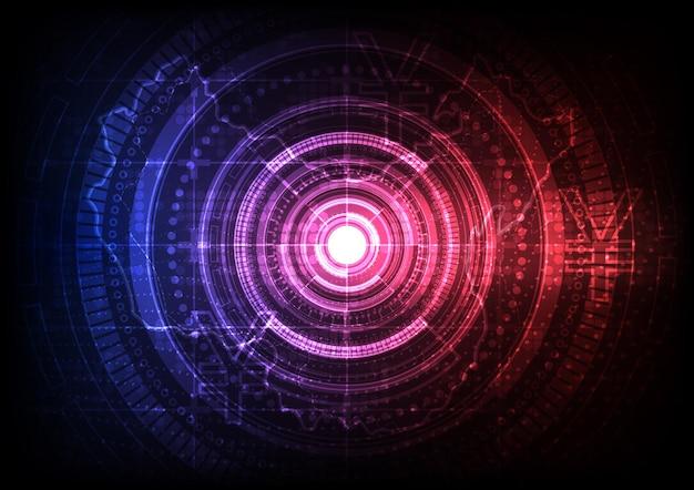 Tło technologii obwodu z ilustracją systemu połączenia danych cyfrowych hi-tech