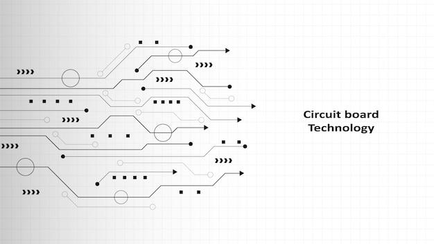 Tło technologii obwodu z zaawansowanym technologicznie cyfrowym systemem transmisji danych i elektronicznym komputerem