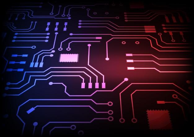 Tło technologii obwodu z zaawansowanym technologicznie cyfrowym systemem transmisji danych i komputerowym projektem elektronicznym