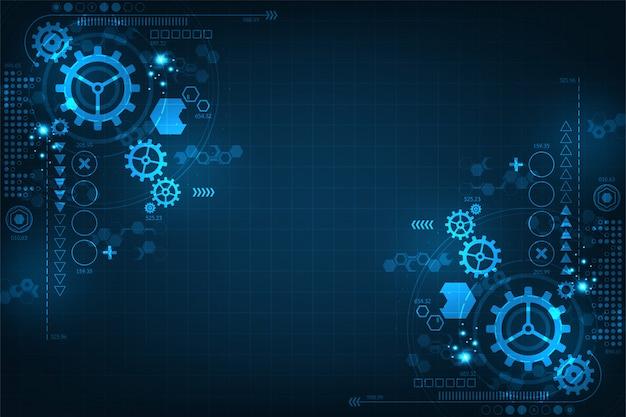 Tło technologii przekładni w koncepcjach mechanicznych.