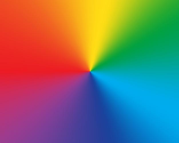 Tło tęczy gradientu radialnego