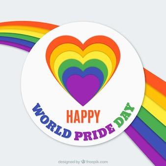 Tło tęczy ze światem duma dzień serca