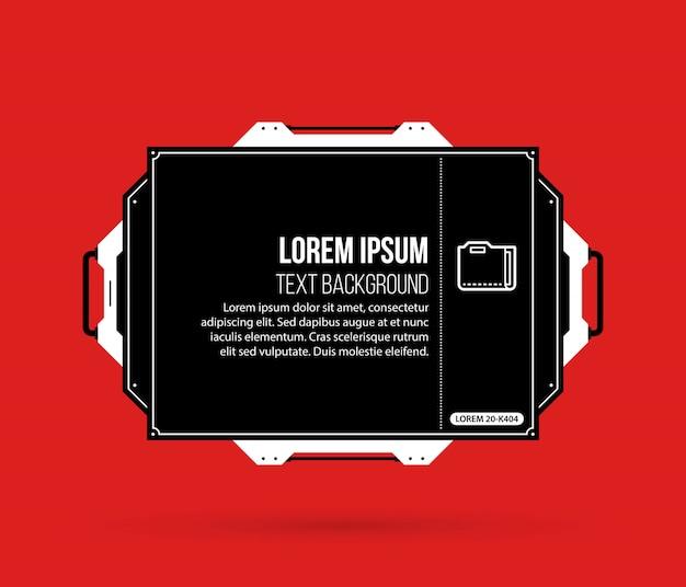 Tło tekstu z elementami hi-tech w kolorze czarnym i czerwonym