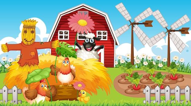 Tło tematu gospodarstwa ze zwierzętami gospodarskimi
