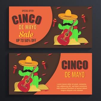 Tło transparent sprzedaż cinco de mayo