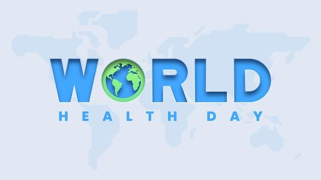 Tło transparent światowego dnia zdrowia