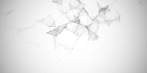 Tło transparentu z abstrakcyjnym projektem low poly