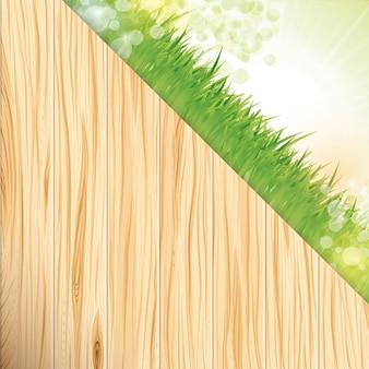 Tło trawy i drewna