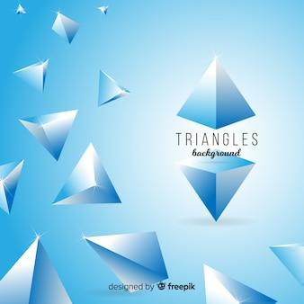 Tło trójkąty