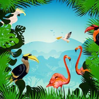 Tło tropikalny las