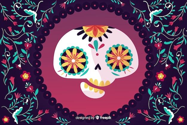 Tło twarz czaszki asymetryczne
