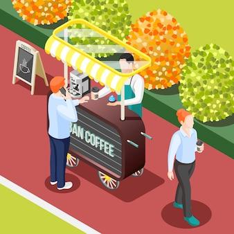 Tło ulica kawy