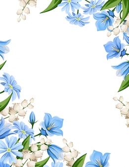 Tło ulotki z wiosennych kwiatów. ilustracja.