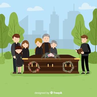 Tło uroczystości pogrzebowych