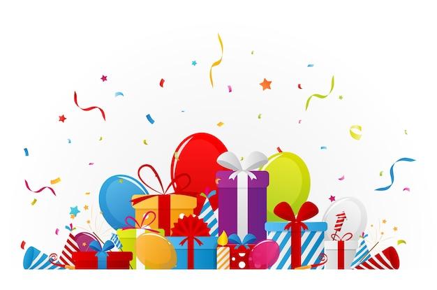 Tło uroczystości urodzinowe z elementami partii