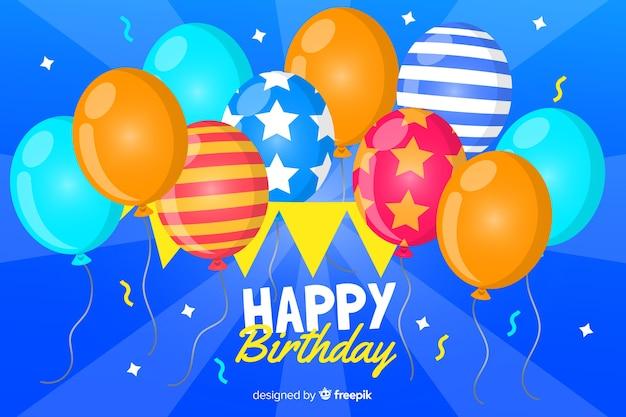 Tło urodziny balony