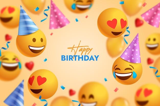 Tło urodziny emoji