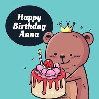 Tło urodziny niedźwiedź