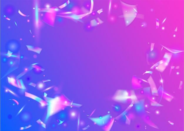 Tło urodziny. przezroczysty brokat. sztuka jednorożca. retro realistyczna dekoracja. folia luksusowa. tęczowy blichtr. metalowy baner. niebieski błyszcząca tekstura. różowe tło urodziny