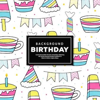 Tło urodziny wzór linii