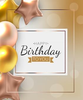 Tło urodziny z balonami. ilustracja