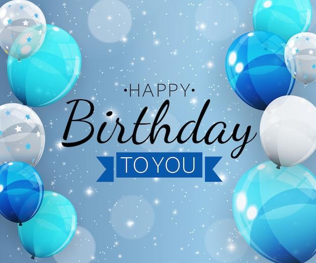Tło urodziny z balonami