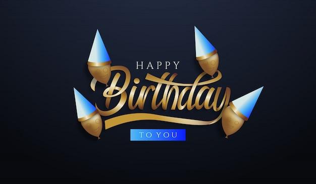 Tło urodziny z balonów wpr i twarzy