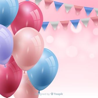 Tło urodziny z balonów