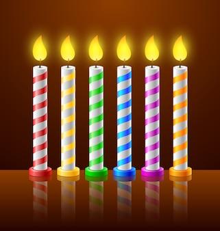 Tło urodziny z świece