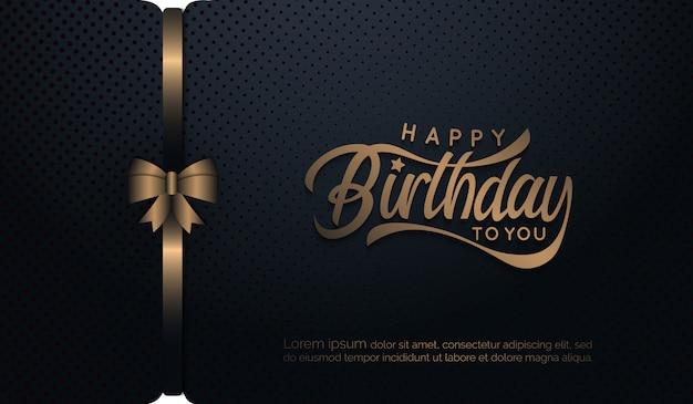 Tło urodziny ze wstążką