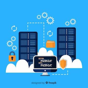 Tło usługi hostingu folderów