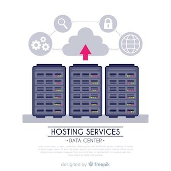 Tło usługi hostingu strzałek