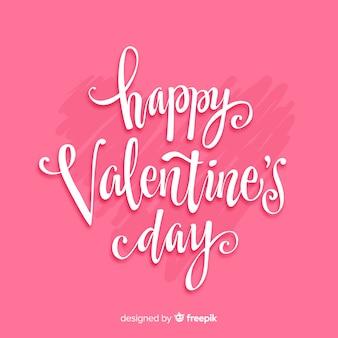 Tło valentine kaligraficzne