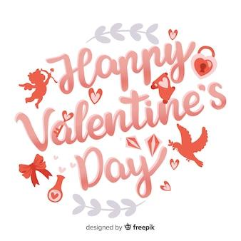 Tło valentine sylwetki