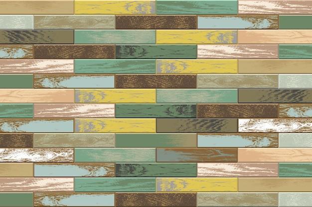 Tło vintage drewniany parkiet ze starymi i wyblakłymi kolorami