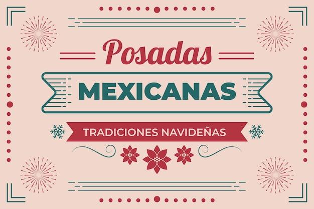 Tło vintage posadas mexicanas