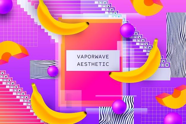 Tło vintage vaporware